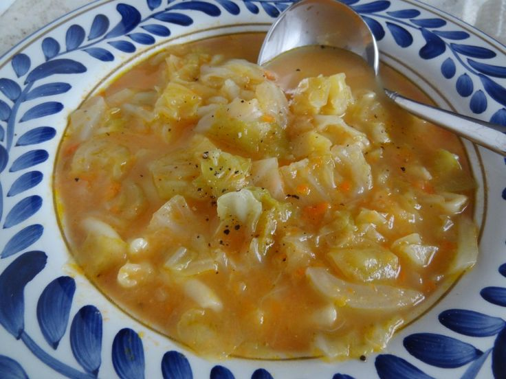Sopa de Grao – Chick Pea Vegetable Puree with Cabbage