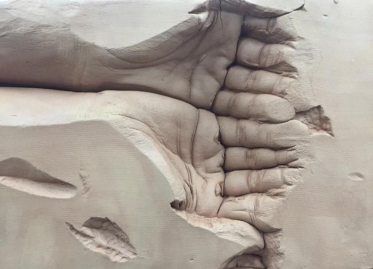 Amazing Clay Hands Sculpture
