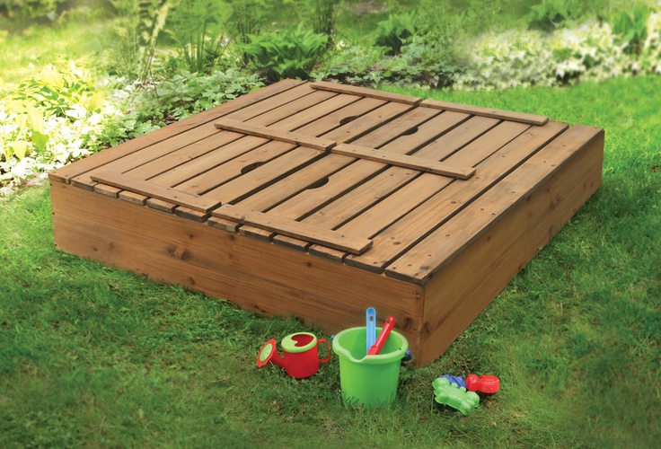 Closed sand box backyard pinterest for Sandbox with built in seats plans