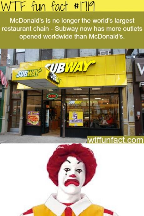 Subway are healthier and give more choice ( my favourite fast food establishment ✅
