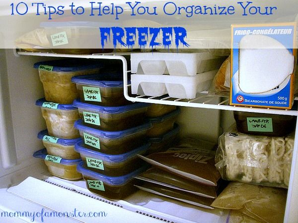 Here are ten organizing tips that you can use to make your freezer (and refrigerator!) easier to deal with.