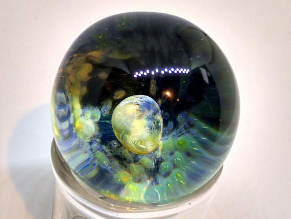 Heady Space Marble Blown Glass Marble Lampwork Space Glass Orb