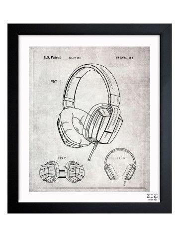 Headphones   2010 - Framed Art Print by Oliver Gal