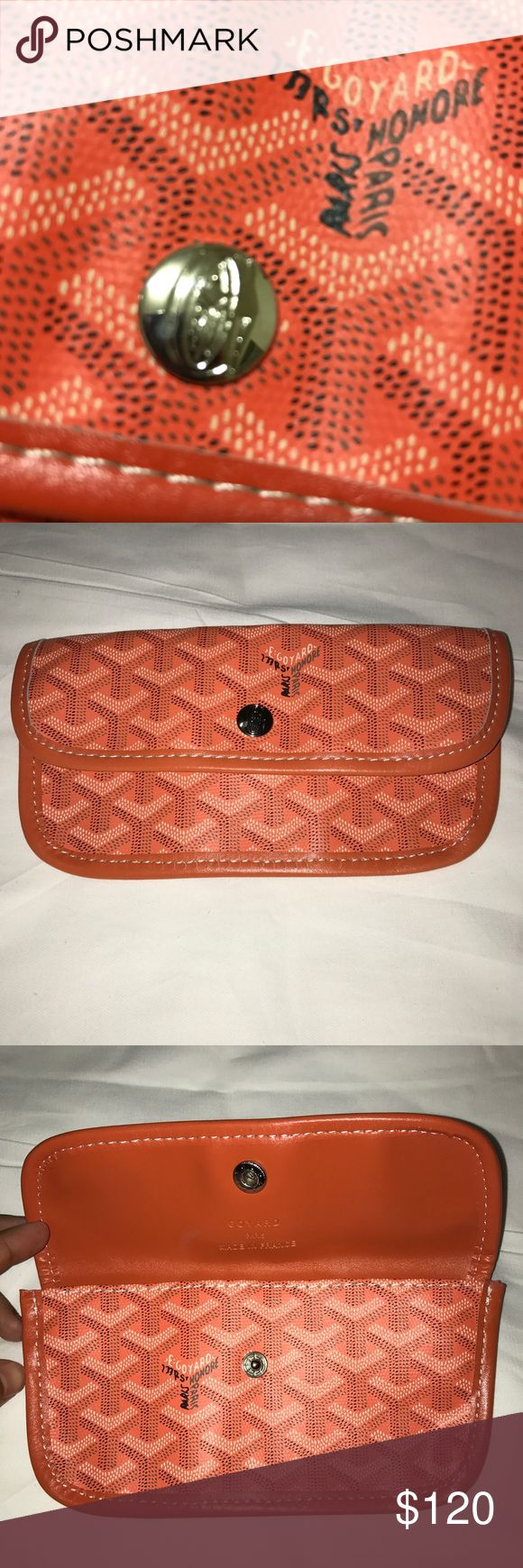 GoYard Wallet Pouch for women's! Preowned!! Pre-Owned!! Perfect use as a wallet or even a mini make up bag!! Not 100% sure if it is authentic but I've used it many times and it's held up perfect! Preowned but still amazing condition! - Same day shipping and handling!  - Price is FIRM unless you're interested in a bundle deal.  - Please feel free to comment or ask any questions! Goyard Bags Wallets