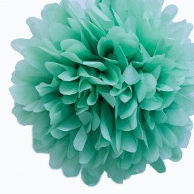 Dress My Cupcake 14` Willow Green Tissue Paper Pom Poms, Set of 4 - Green Wedding Decorations, Green Party Supplies $15.99