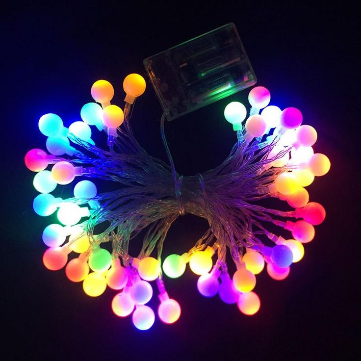 50 Cherry Balls LED String Lights Battery Operated - 26ft