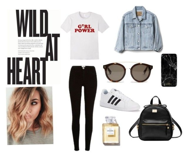 """Casual look"" by carlacorucho on Polyvore featuring Gap, River Island, adidas and STELLA McCARTNEY"