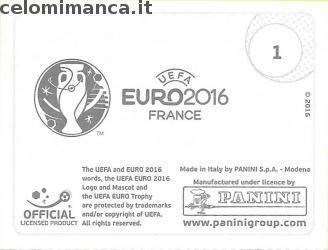 UEFA EURO 2016™ Official Sticker Album: Retro Figurina n. 1 UEFA Euro 2016™ - Official Logo /1