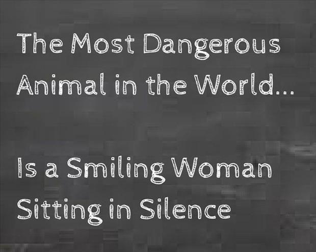 Oh ja, wenn wir Frauen ruhig werden...