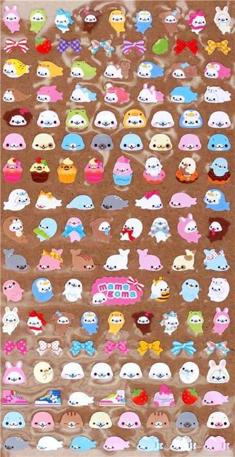 many small Mamegoma sticker San-X from Japan 2