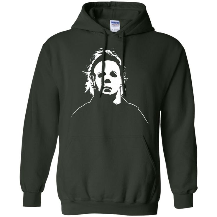 Jacted Up Tees Michael Myers Halloween Movie Mask Men's T-Shirt SHIPS FROM OHIO USA-01 G185 Gildan Pullover Hoodie 8 oz.
