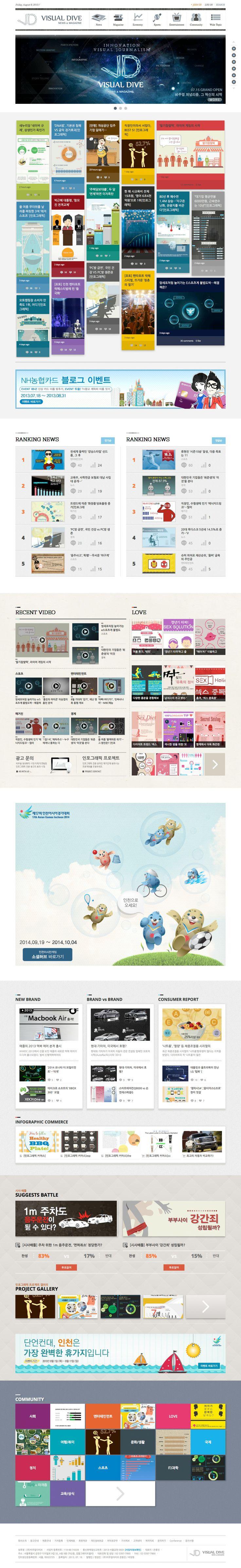 2013 비쥬얼다이브 Website