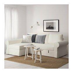 IKEA - BACKABRO, Bettsofa/Recamiere, Nordvalla dunkelgrau, -, , Taschenfedern entlasten den Körper und tragen zur ausgeglichenen Lage der Wirbelsäule bei.Eine feste Matratze, die gut stützt und für allnächtliche Benutzung geeignet ist.Bezug aus robuster, strapazierfähiger Baumwoll-Polyester-Mischung mit deutlicher Struktur.Aufbewahrung unter der Récamiere mit Arretierung im Deckel zum sicheren Verstauen und Herausnehmen.Die Récamiere kann links oder rechts vom Sofa aufgestellt und nach ...