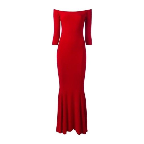 NORMA KAMALI Red Off-Shoulders Fitted Dress ($393) ❤ liked on Polyvore featuring dresses, red, fitted dresses, off shoulder dress, norma kamali, off the shoulder cocktail dress and tight red dress