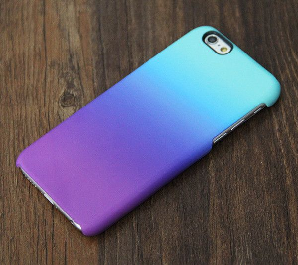 Violet Turquoise Pastel iPhone 6s 6 Tough Case 6S Plus Hard & Clear Rubber Case 085