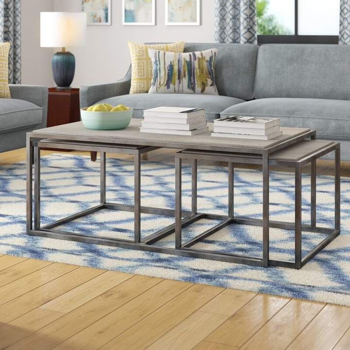 Brayden Studio Masuda 3 Piece Nested Coffee Table Set With Images