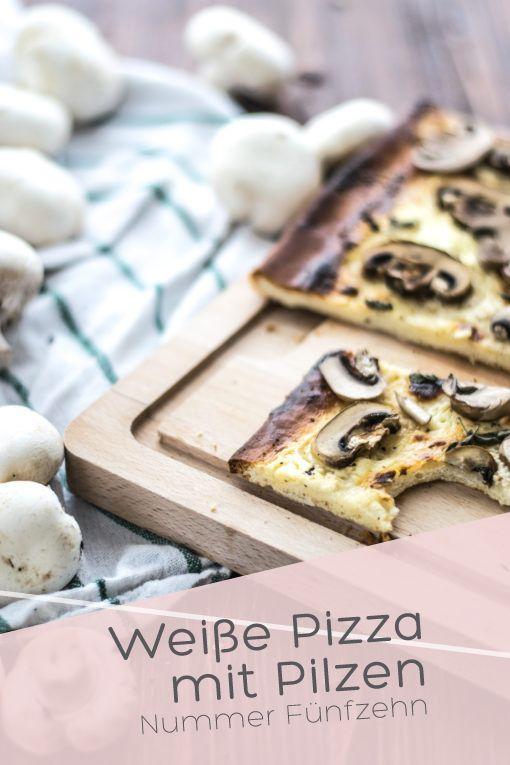 Weiße Pizza mit Pilzen I Nummer Fünfzehn