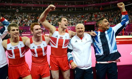 Max Whitlock and Daniel Purvis, Kristian Thomas, Louis Smith - Team GB medalists in Gymnastics. Awesome.