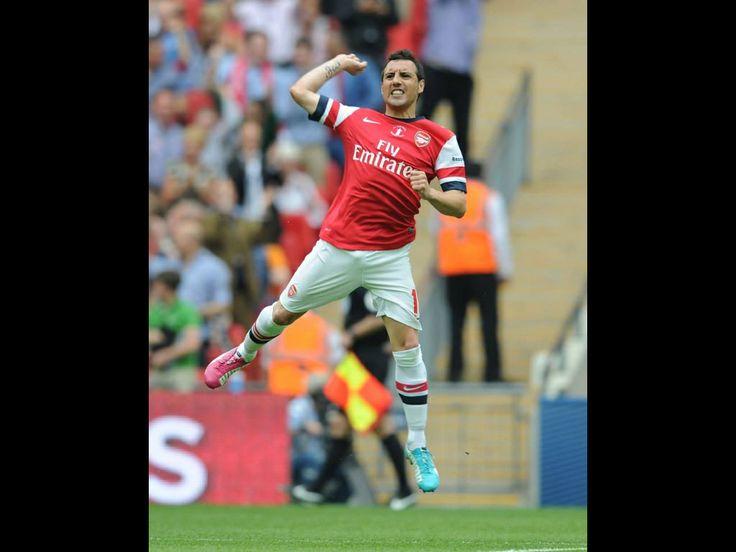 Santi Cazorla what a free kick 2014 FA cup finale