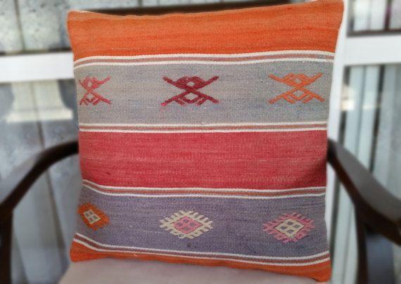 18x18 pillow cover cushion kilim cover beautiful by OtantikArt