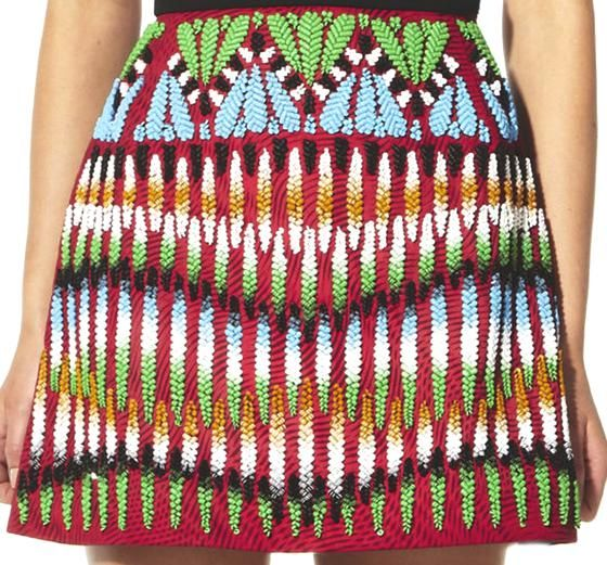 Wonderful patterns and embroideries in Resort collection 2013 by Peter Pilotto- couls knit this..