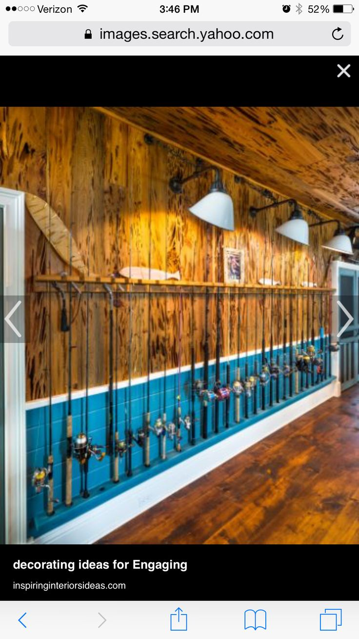 Have A Blank Wall In The Garage Or Shed Install Rod Storage System It Takes Up Hardly Any Sp