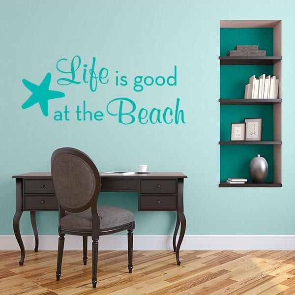 Best Quotes Wall Decals Images On Pinterest Quote Wall - Wall decals beach quotes