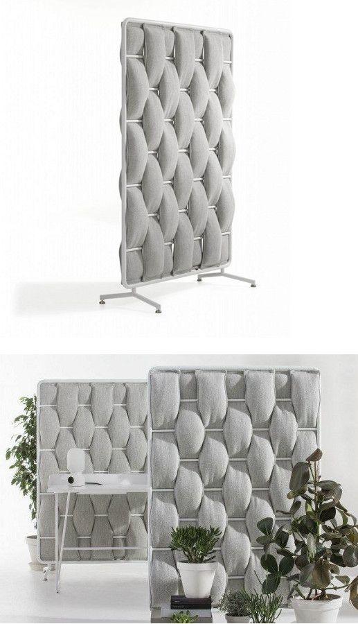 Sound absorbing desk partition LOOP by Abstracta | #design Anya Sebton