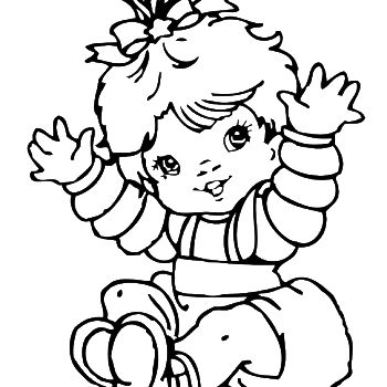 New Baby Girl Coloring Page Twisty Noodle Baby Girl Coloring