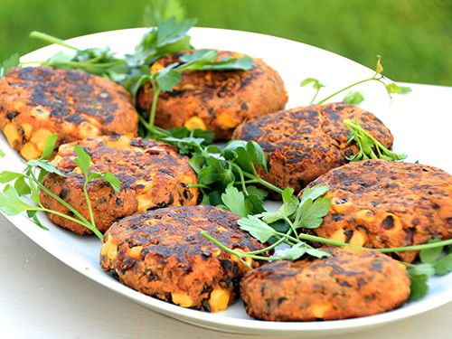 Image of Sweet Potato and Black Bean Burgers