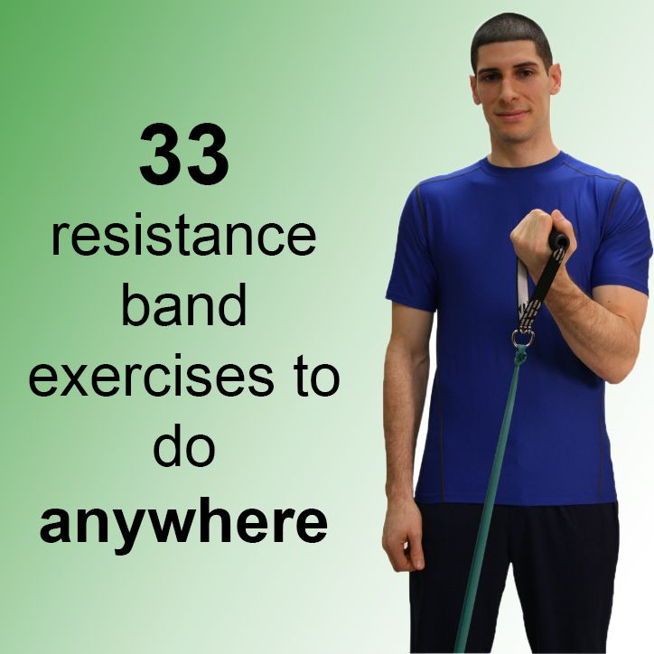 Resistance bands are the ideal tool for strength building routines or for rehabilitation. It is easier to store than traditional weights, making it ideal for travel, when the weather prevents you from making it to the gym, or when you're tight on space. Some bands even come with handles allowing for an easier grip. These 33 exercises to do with resistance bands can be done pretty much anywhere. Try these exercises with one of our CanDo® ba