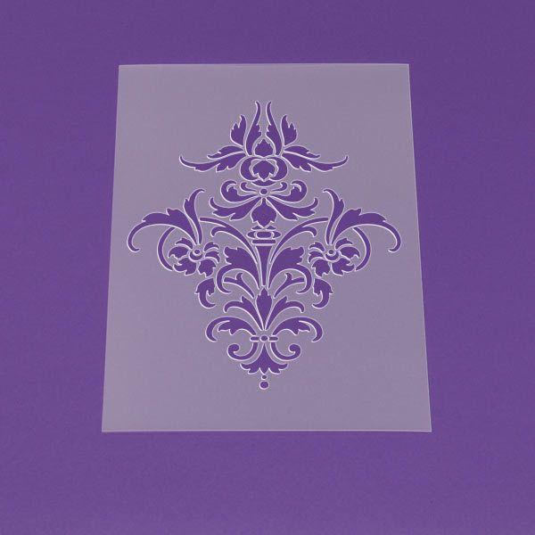 Schablone+A3+Damask+Ornament+Barock+Muster+-+LM29+von+Lunatik+•+Gestaltungs-+und+Geschenkideen+auf+DaWanda.com