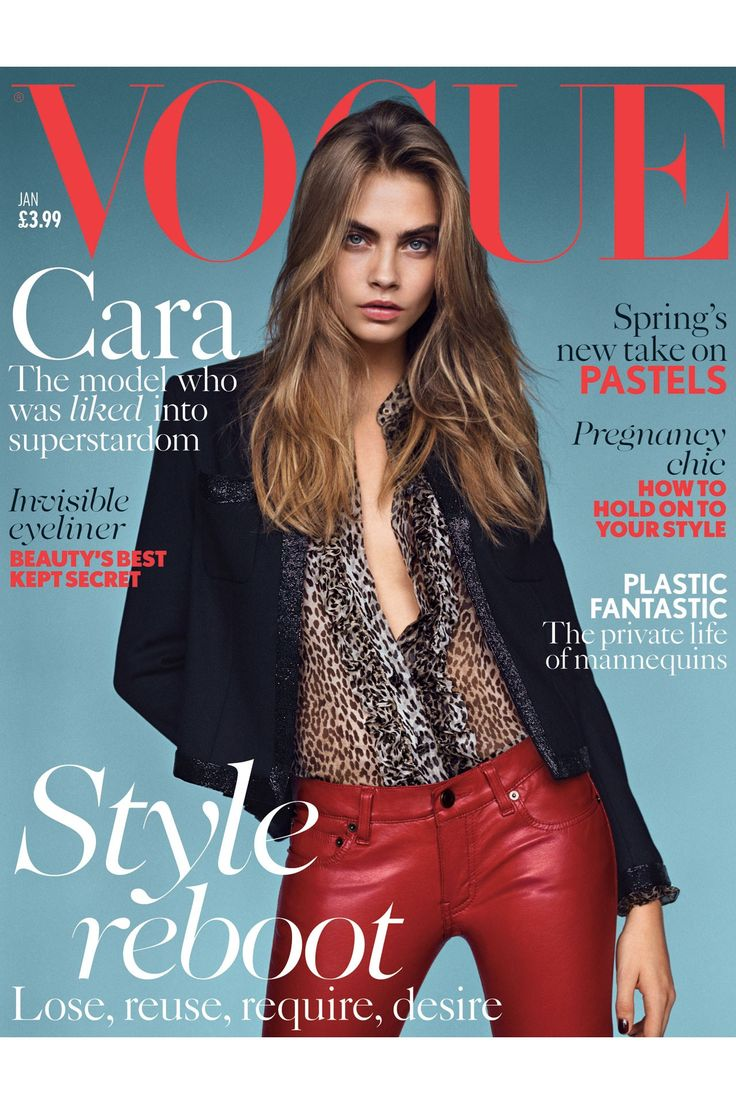 Cara Delevinge is flawless || Cara Delevingne British Vogue Cover January 2013 (Vogue.com UK)