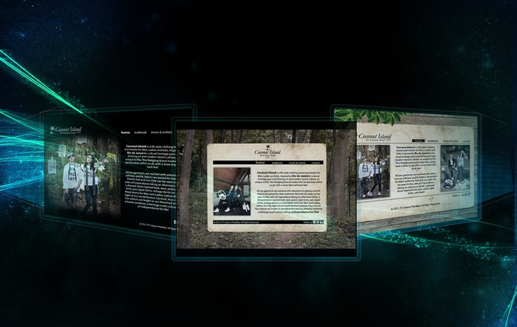 some web design for Coconut Island