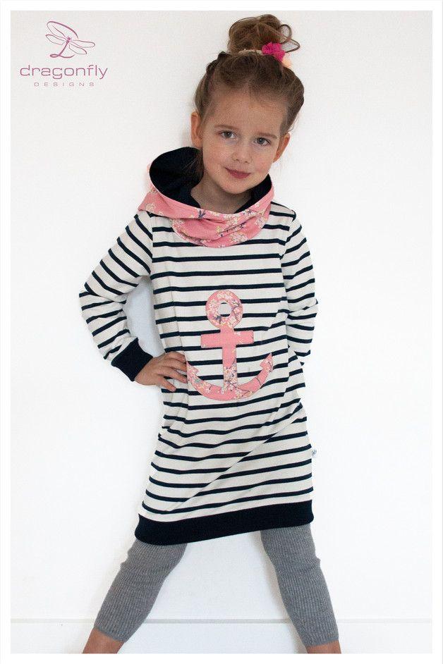 ⚓ ⚓ Так мой морской весна из ⚓ выглядит ⚓ самая любимая часть ⚓ ⚓  Био-Джерси платье с великолепной, большой Капот и большой якорь приложения.  Красивый, очень, очень мягкий био...