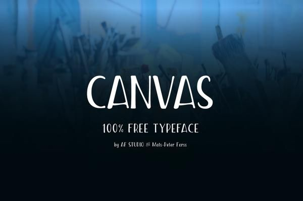 Canvas - Free Condensed Font by Af Studio