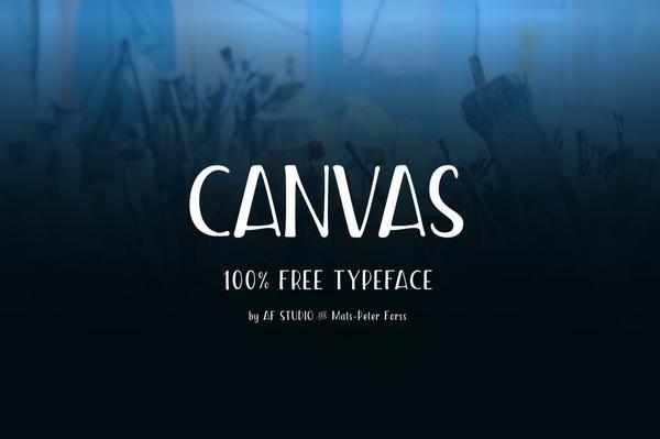 Canvas - Free Condensed Font by Af Studio