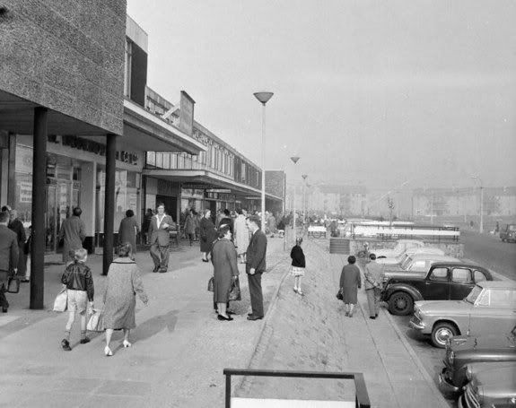 Drumchapel,Glasgow,circa1967 (dates are wrong on Hidden Glasgow forum,shopping centre built early 1960's)