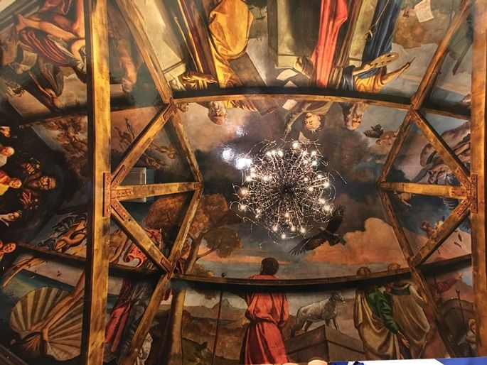 This is the ceiling in the Chapel at Mira Mira
