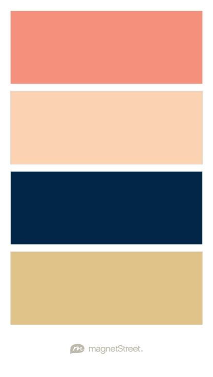Coral, Peach, Navy, & Gold #ZazousBridalBoutique