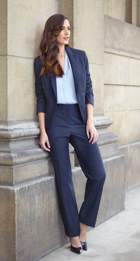 Barcelona Blue Wool Suit Jacket And Trousers T M Lewin Aw15 Collection Style In 2018 Pinterest Suits Outfits For Women