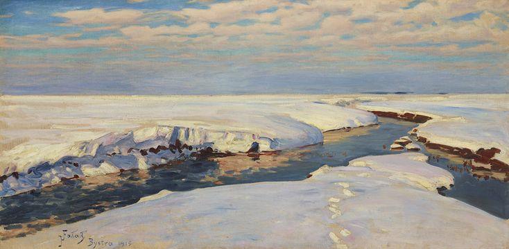 Julian Fałat, Krajobraz zimowy, 1915 rok
