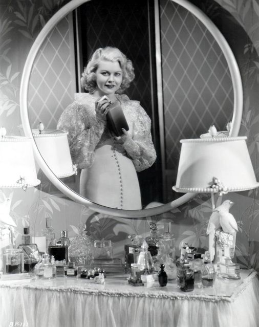 Barbara Pepper (1915 - 1969) Old Hollywood Glamour....love all the things on the vanity and look at those lamps !!
