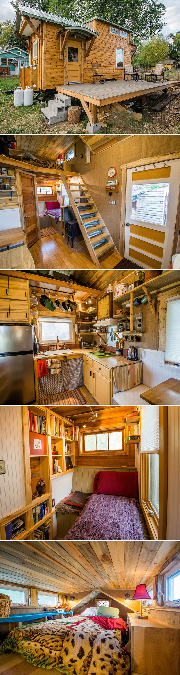 The Bookworm: a 160 sq ft home with a small home library