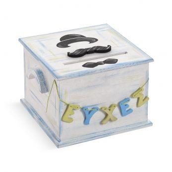 Ξύλινο κουτί ευχών βάπτισης Little Man