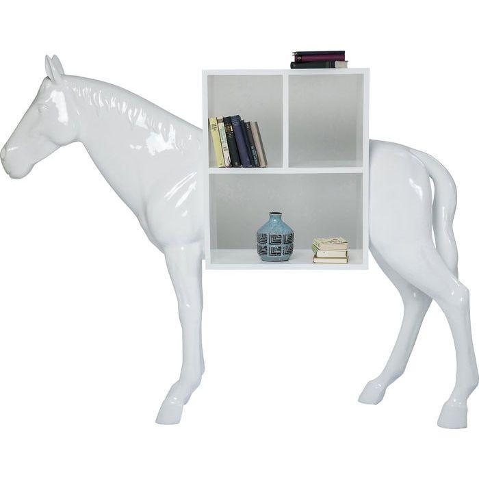 Shelf Horse White   KARE Design   An Extraordinary Shelf For Design  Ethusiasts. Get A