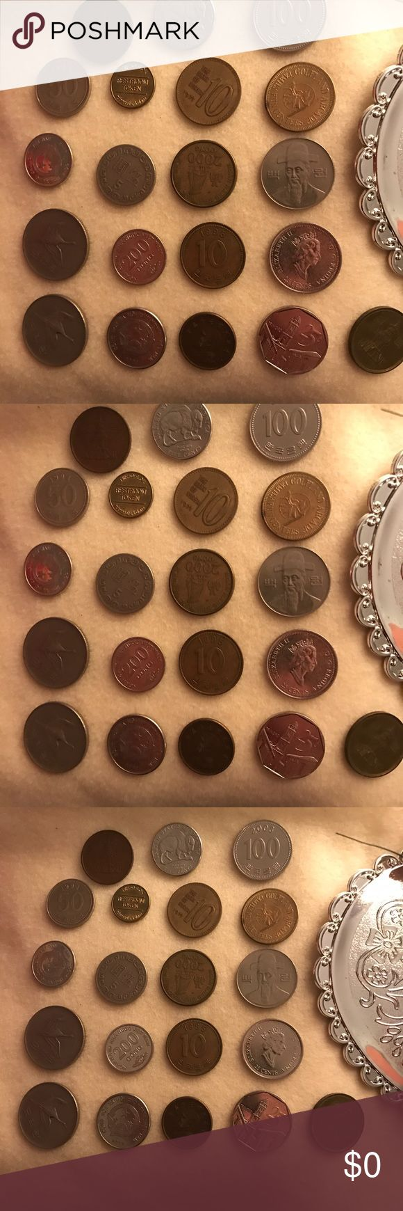 FOREIGN COIN COLLECTION . (20) count. VARIETY of Foreign Coins. Contemplating value . 🤔 Other