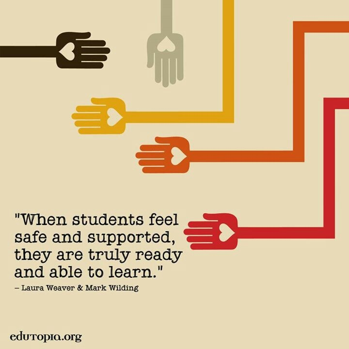 When students feel safe and supported they are truly
