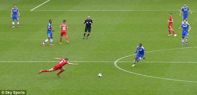 Costly: Steven Gerrard's error let in Demba Ba to score the opener for Chelsea