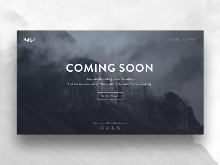 Hi Guys, This is a coming soon page design for my upcoming website. Cheers :)